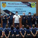 Ketua FORKI Kabupaten Bogor terpilih periode 2021-2025,H.Alex Purnama Johan beserta jajarannya resmi dilantik